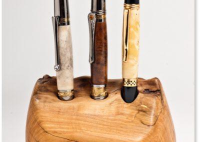 Kugelschreiber 1 Horn 2 gedämpfte Akazie 3 Pappelmaser  Länge: 13,5 cm