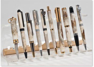 Diverse Stücke aus Horn, Länge: ca. 13–14 cm