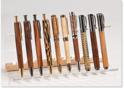Kugelschreiber und Rollerball, Länge: ca.  14,5–13 cm