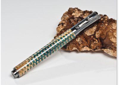 Rollerball Maiskolben mit Kunstharz  Länge geschlossen: 13 cm Länge offen: 11,7 cm